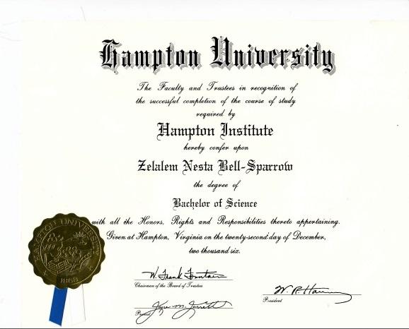 hampton-university-daploma
